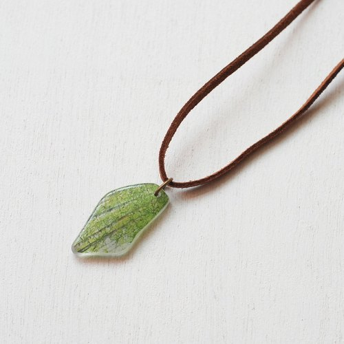Sea Glass Necklace - Bamboo Forest