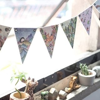Good day to push Goodies: Fun pennant / home accessories gift C. Forest __ / Valentine's Day wedding was small / office decoration