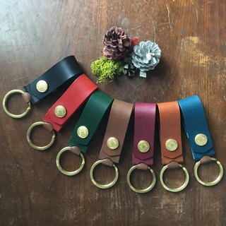 isni[Hide love key ring]  6 colors design/free imprint 8 letter/handmade leather