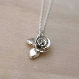 [Jewelry] Jin Xialin ‧ Wild Rose Necklace - sterling silver bright polished (also black vulcanization process)