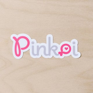 Pinkoi Logo Big Waterproof Sticker