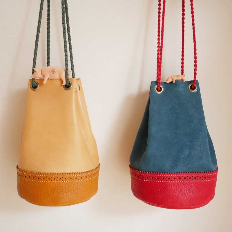 Classic oxford bucket bag