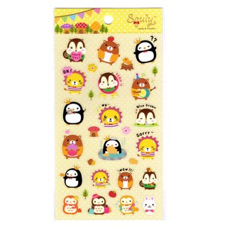 Squly & Friends Happy Forest Theme Sticker (E008SQS)