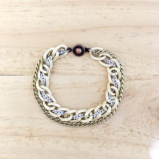 ♦ ♦ golden crescent color bracelet