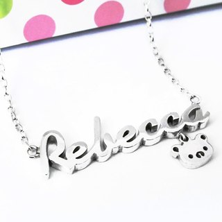 Order name/letter/text/name necklace pendant 925 sterling silver ART64