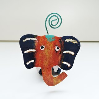 Warm companion color small elephant clip clip animal paper healing