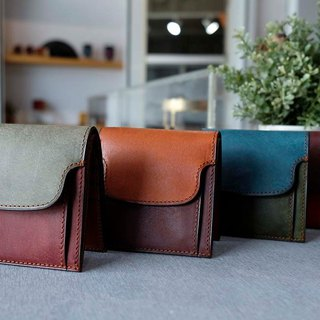 isni cards &coin short wallet  handmade leather