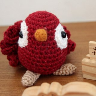 Amigurumi crochet doll: Gorgeous bird, red bird