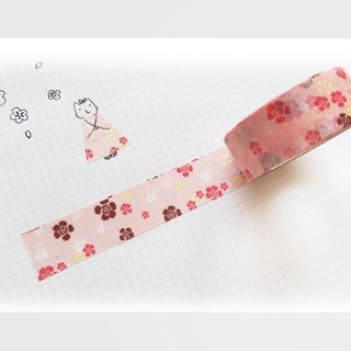/ Puputraga / warm flower / Japanese paper tape and wind / light pink