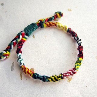 Peaceful five-color rope rotating lucky rope woven bracelet (optional color)