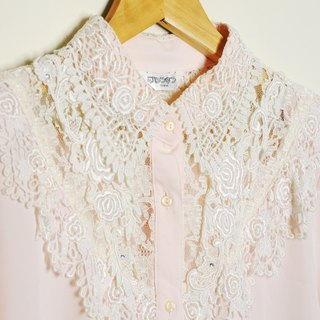 Spend vintage / Made in Korea TOKYO pale pink lace shirt