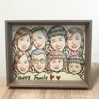Cha mimi. unique. Only proud of your family portrait, hand-painted portraits - custom-made area