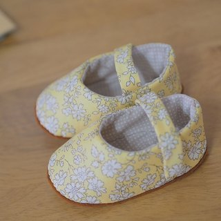 British yellow floral · Baby Shoes
