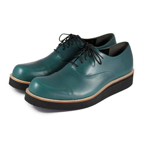 Leather sneakers Wine Cup M1127 Dark Green
