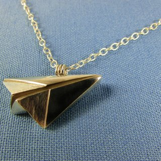 Mittag【NL330】paper plane Paper Airplane Designer Handmade Silver Necklace - With branded wood jewelry box, silver polishing cloth... Overtake free transport