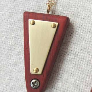 Wood / Red Acacia / Flavonoid / Long Inverted Wood Necklace