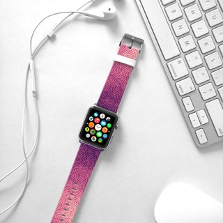 Apple Watch Series 1 , Series 2, Series 3 - Purple Wave Pattern Watch Strap Band for Apple Watch / Apple Watch Sport - 38 mm / 42 mm avilable