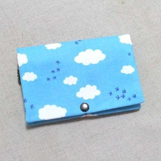 Multi-layer coin purse - blue sky and white clouds