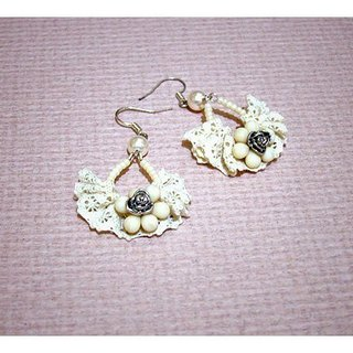 French romantic little rose earrings