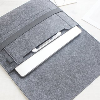 "[Customizable] Original handmade dark gray felt felt sleeve protective sleeve Apple laptop bag Macbook 13-inch computer bag Macbook 13.3 ""Pro Retina (can be tailored) - ZMY044DG13R"
