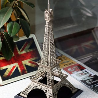 Dong Qi metalworking] [OPUS Eiffel Tower in Paris, France custom metal building / Toys Models / Interior Design / spatial arrangement / decoration grocery / home decor / Creative Jewelry (champagne)