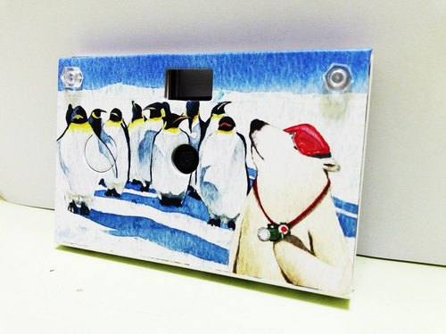 Paper Shoot paper creative paper camera can shoot digital camera Lomo retro 4GB SanDisk MicroSD memory card included four kinds of effects Taiwan brand (series Polar Bear - Penguin)