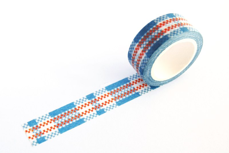 Hong Kong MT Tape - Red White Blue pattern (S2014-026)