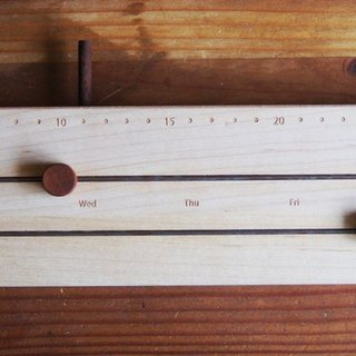 My time scale - wooden calendar (large) (imprinted text or numbers provided with free information in the Remarks mark ~!)
