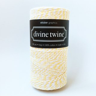 US imports Divine Twine two-color cotton line 【Lemon】
