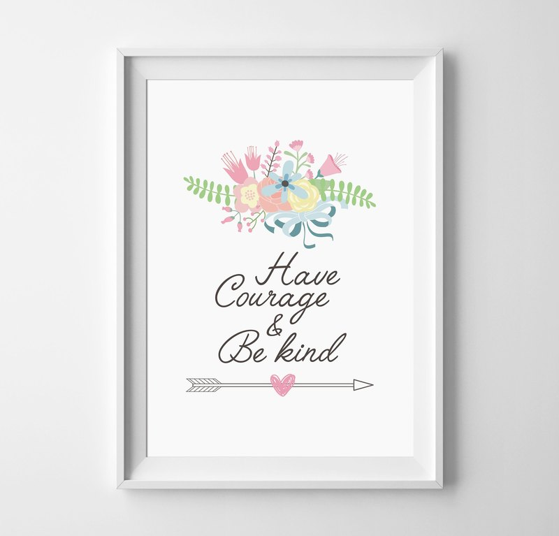 be kind, can be customized Hanging Poster