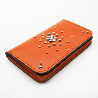 Orange leather phone case