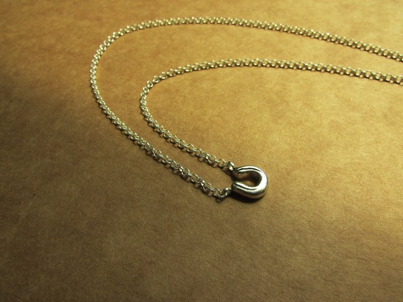 Mittag NL413 horseshoe f horseshoe f designer handmade sterling silver necklace - with brand wood jewelry box ... overtake free transport