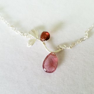 Very rare large-size ultra-high quality custom silver-plated necklace tourmaline (please specify when ordering custom styles) (pink, stone No. 5)