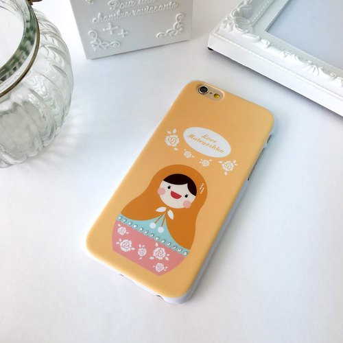 Luxury Orange Rose Matryoshka Print Soft / Hard Case for iPhone X,  iPhone 8,  iPhone 8 Plus,  iPhone 7 case, iPhone 7 Plus case, iPhone 6/6S, iPhone 6/6S Plus, Samsung Galaxy Note 7 case, Note 5 case, S7 Edge case, S7 case
