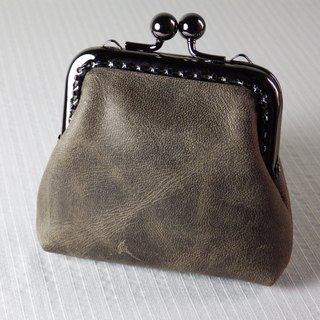 The gray leather wallet coffee (mo-shaped mouth gold package section)