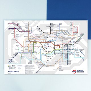 HomePlus Frameless Painting 40x60cm Homedecor London Underground Map