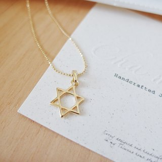 Cha mimi. Will design models. Personalized paragraph hexagram / hexagram gold necklace