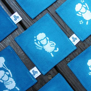Handmade blue dye coaster / Bleater