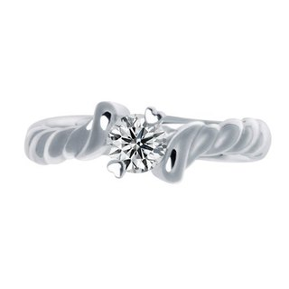Love marshmallows Zircon Silver Platinum Plated Ring (No. 9.5)