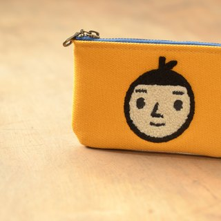 [BestFriend] waterproof canvas purse (yellow - Boys head)