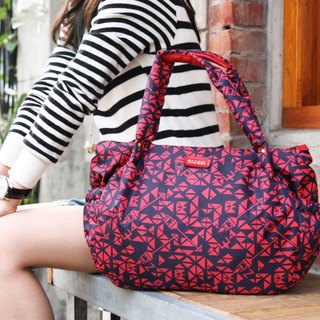 PAZEAL Puffy Everyday Handbag fashion casual portable shoulder bag (Hongyan)