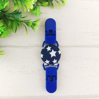 Navy Stars - 2 colors are available. Handkerchief clip