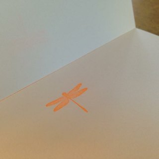 PAPIER A5 blank writing paper. Dragonfly paragraph