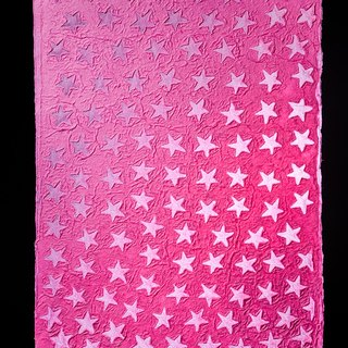Hand-embossed pattern wrapping paper - little star (pink)