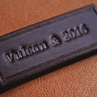[Do not subscript separately] VULCAN leather imprint stamping service is only available with the subscript