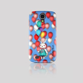(Rabbit Mint) Mint Rabbit Phone Case - Bu Mali balloons Series Merry Boo - Samsung S4 (M0008)