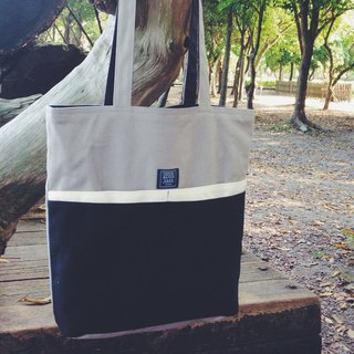 ::Bangstree:: Multifunctional canvas shoulder bag-gray+white+darkblue