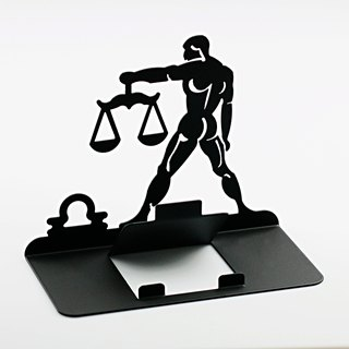 [OPUS Dong Qi Metalworking] constellation series mobile phone holder / tablet phone holder / boys gift / Father's Day gift / Libra