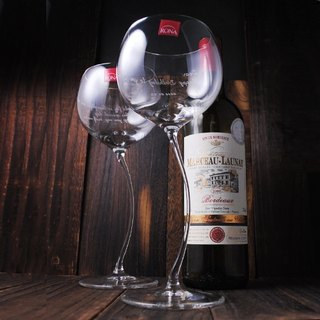 (One pair price) 520cc [] Cassiopeia RONA crystal cup series of lead-free crystal glass of red wine glasses engraved lettering gift