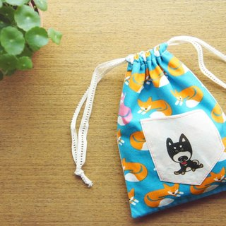 Shiba Inu like a small fox hand-made pouch